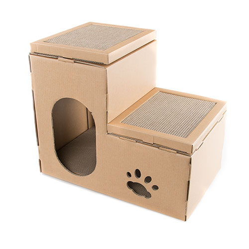 Rascador para gatos 2 en 1 TK-Pet Cat Home