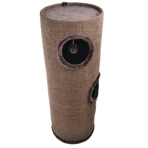Rascador torre con tres pisos para gatos Tower marrón