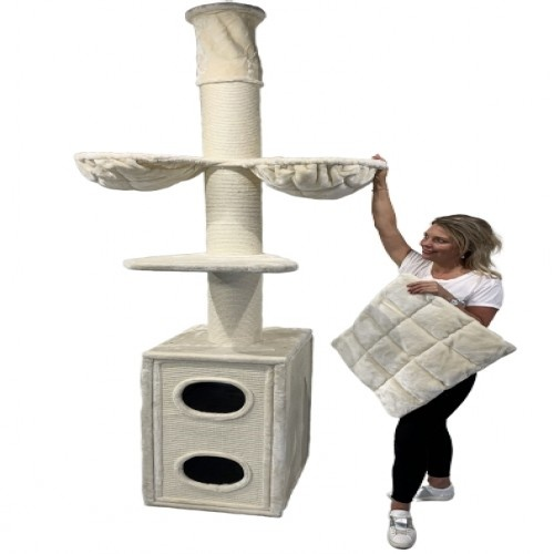 Rascador Cat Tower Box color Crema