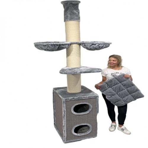 Rascador Cat Tower Box color Gris