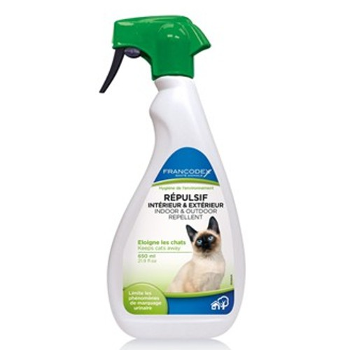 Repelente educativo en exteriores e interiores para gatos en spray Francodex