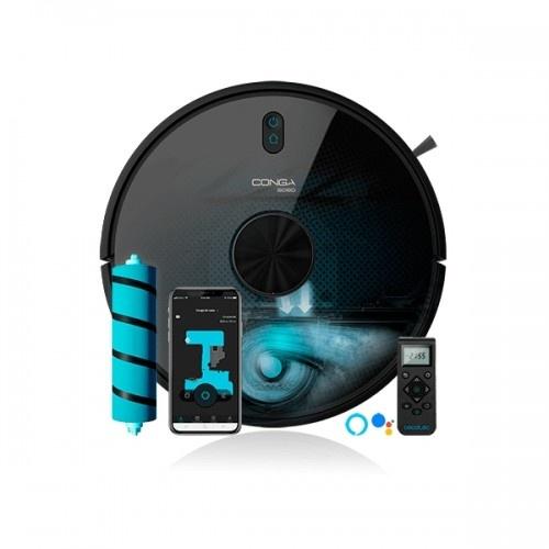 Robot aspirador Conga 6090 Ultra color Negro