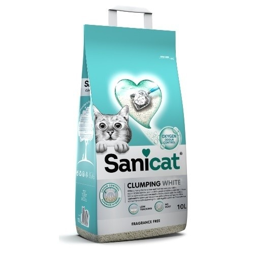 Sanicat Clumping White arena aglomerante gatos
