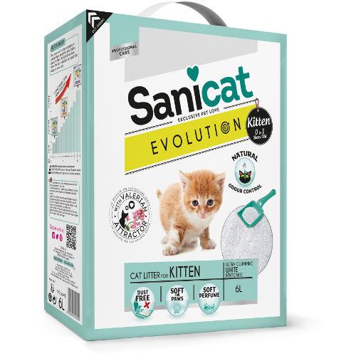 Sanicat Evolution Kitten arena aglomerante con valeriana para gatitos
