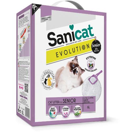 Sanicat Evolution Senior arena aglomerante perfumada para gatos