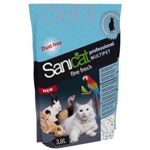 Sanicat Multipet Fine fresh arena de sílice fina para mascotas