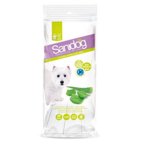 Sanidog toallitas para perros con olor a aloe vera
