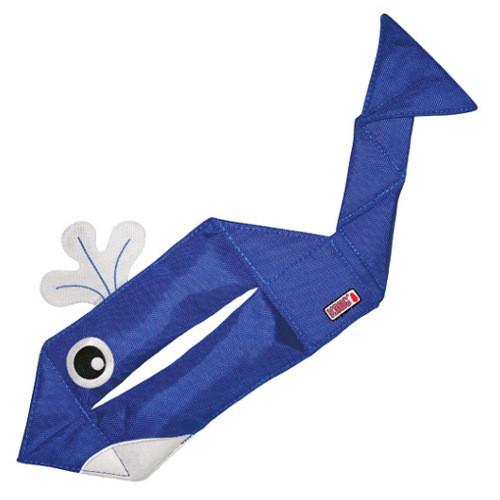 Señuelo divertido con forma de ballena KONG Ballistic Flatz