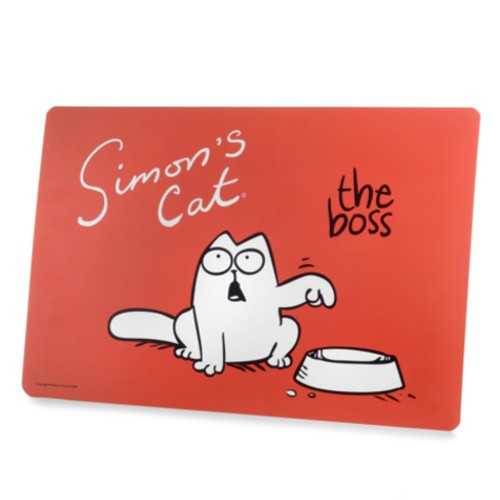 Simon´s Cat alfombrilla para comederos para gatos The Boss