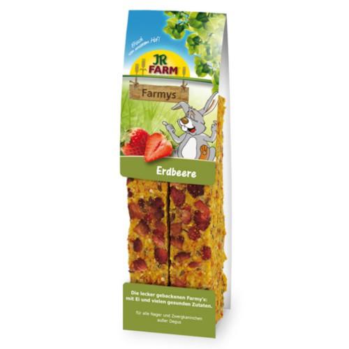 Snack barritas con fresas JR Farm Farmys para roedores y conejos