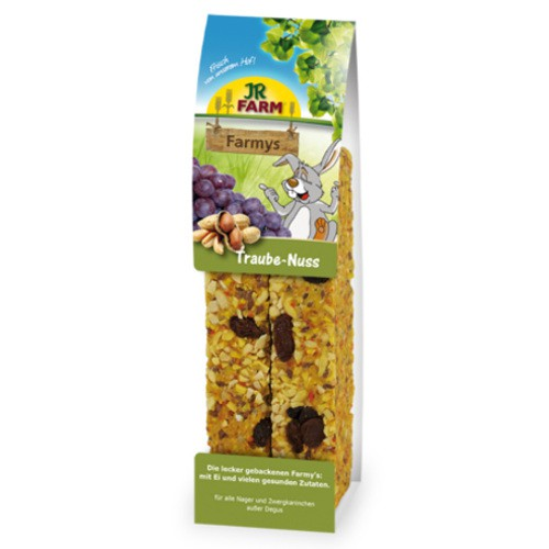Snack barritas con nueces y pasas JR Farm Farmys para roedores y conejos