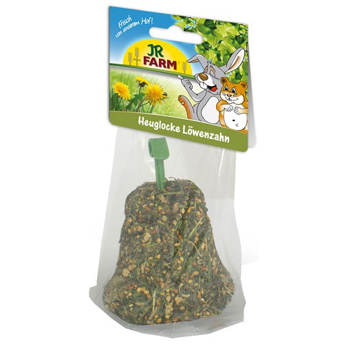 Snack campana de heno con diente de león JR Farm para roedores y conejos