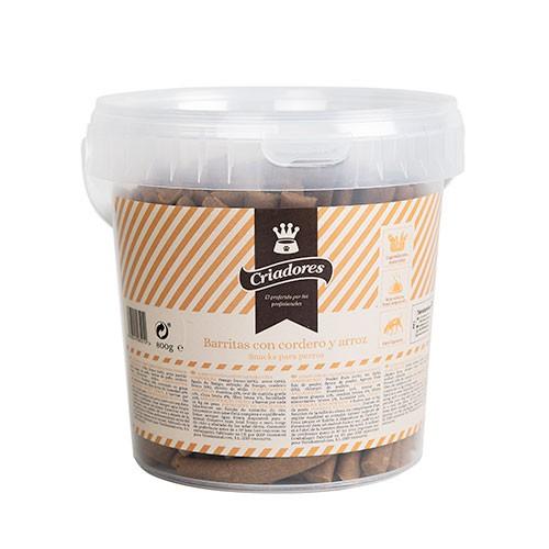 Snack criadores barritas para perros con cordero y arroz