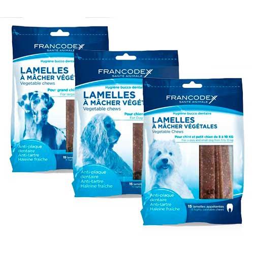 Snack dental en láminas para perros Francodex