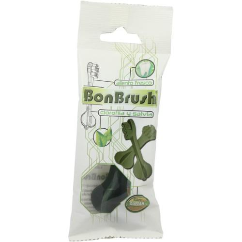 Snack dental para perros BonBrush con clorofila y salvia