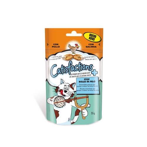 Snack para gatos Catisfactions Stop Bolas de Pelo