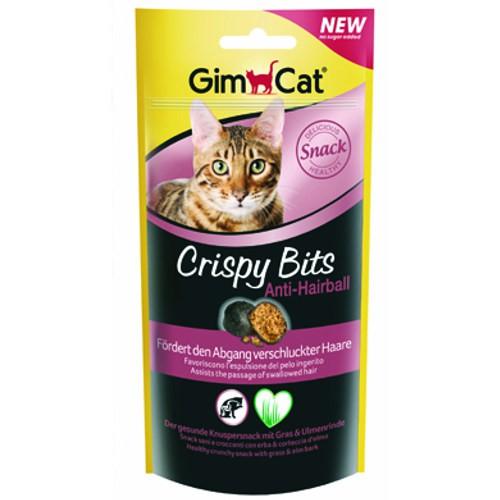 Snack para gatos Crispy Bits Anti Hairball GimCat