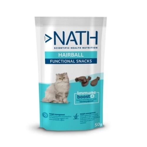 Snack para gatos Nath Adult Hairball 50 gr