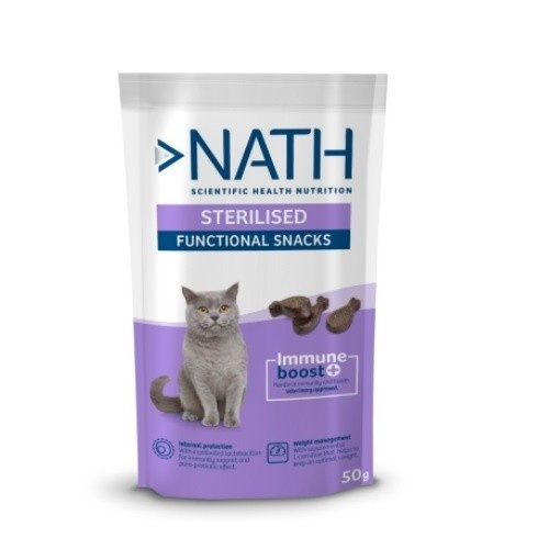 Snack para gatos Nath Adult Sterilised 50 gr