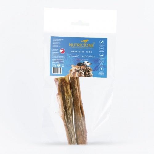 Snack para perros de nervio de toro deshidratado
