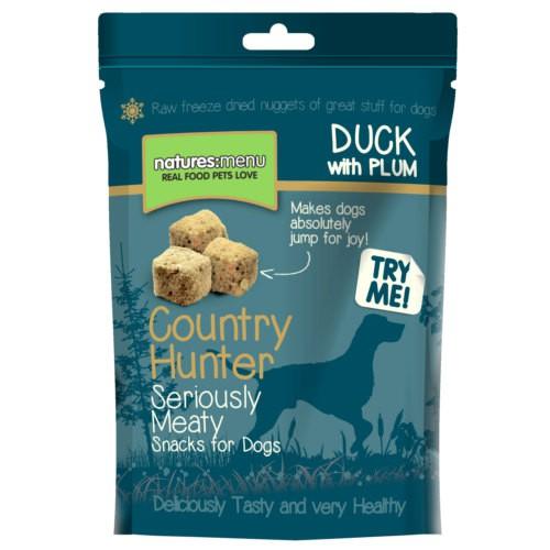 Snack de pato con ciruela para perros Natures Menu Country Hunter