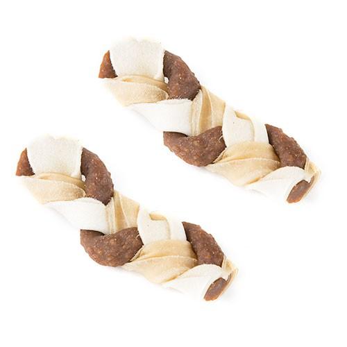 Mini Braid snack para perros Mordedor trenza de cuero