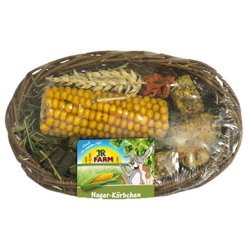 Snacks cesta comestible JR Farm para roedores y conejos