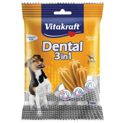 Snacks Dental Sticks 3in1 Vitakraft para perros pequeños