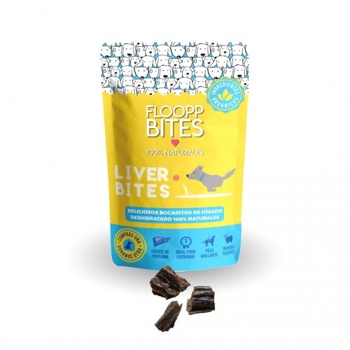 Snacks 100% naturales FlooppBITES Liver Bites sabor Hígado de Res