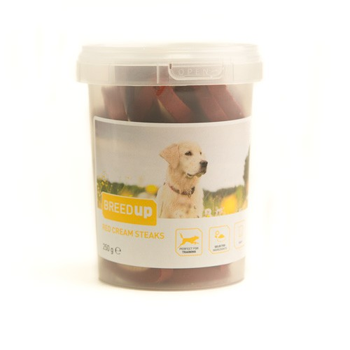 Snacks para perros Breed Up Red Cream Steaks