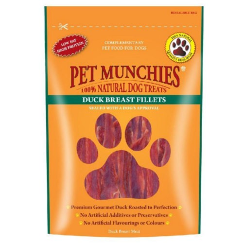 Snacks para perros Pet Munchies Duck Breast Fillets filetes de pechuga de pato
