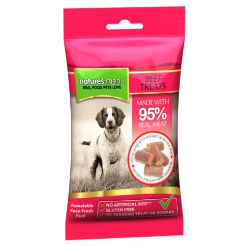 Snacks de ternera para perros Natures Menu Beef Treats