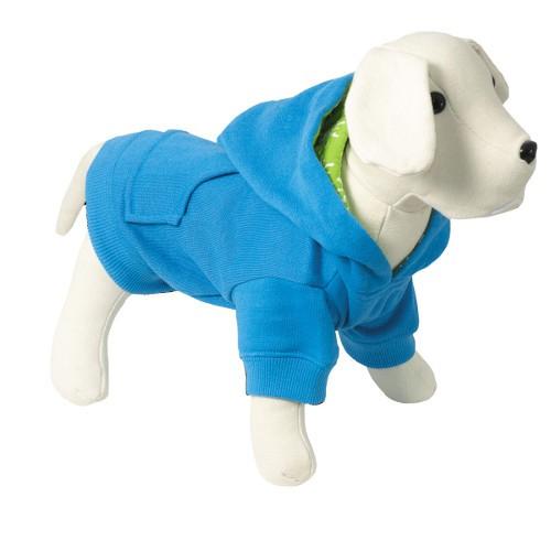 Sudadera con capucha para perros Colors azul con forro interior