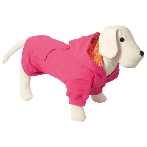 Sudadera con capucha para perros Colors fucsia con forro interior