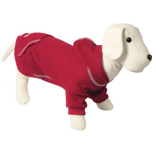 Sudadera con capucha para perros Signature color granate