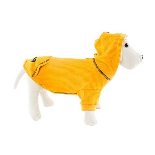 Sudadera con capucha para perros Signature color mostaza