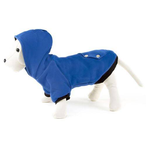 Sudadera reversible con capucha para perros pequeños Color Azul