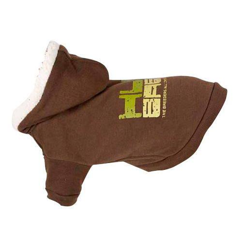 Sudadera elástica con capucha Hum baby marrón