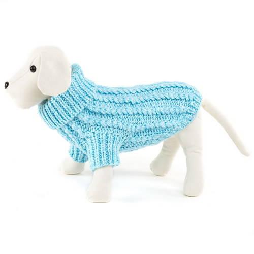 Suéter de punto elegante para perros Color Celeste