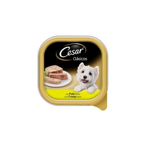Tarrina Cesar en Paté de Pollo para perros