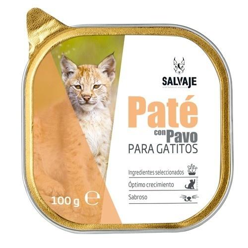 Tarrina de Paté Salvaje con pavo para gatitos