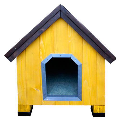 Caseta de madera para perros Alpine Amarillo