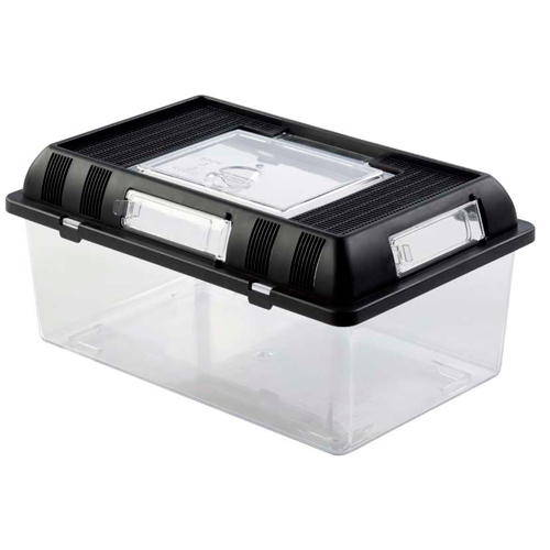 Breeding boxes for reptiles, amphibians and invertebrates