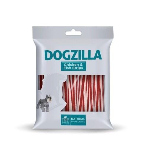 Tiras de pollo y pescado Dogzilla para perros