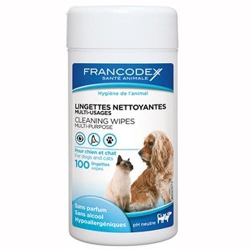 Toallitas limpiadoras multiuso para perros y gatos Francodex
