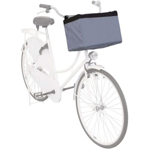 Transportín de bicicleta para mascotas color Gris