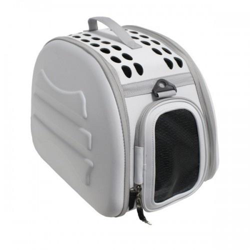 Transportin plegable y lavable Yatek para mascotas color Gris