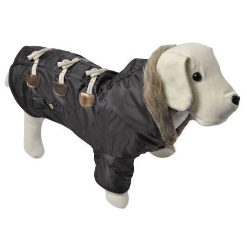 Trenca marr n con capucha abrigo para perros tiendanimal for Estanque para perros