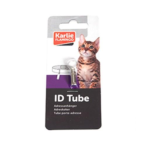 Tubo de indentificación para gatos