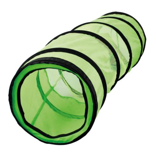 Túnel verde con redecilla para gatos